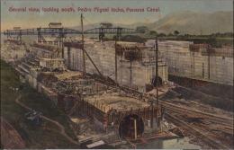 L23- Panama - General View , Looking South , Pedro Miguel Locks , Panama Canal - (2 Scans) - Panama