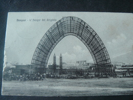 "1913 BEAUTIFUL ANCIENT SMALL POSTCARD OF ""DIRIGIBLE ' S HANGAR ""/ANTICA BELLISSIMA VIAGGIATA DA BENGASI - Libya"