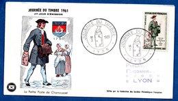 Enveloppe Premier Jour / La Petite Poste De Chamousset / 18-03-1961 / Lyon - 1960-1969