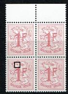 1027B  Bloc 4  **  V 1  Point Rouge  6 - Abarten Und Kuriositäten