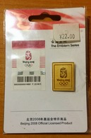 CHINA - BEIJING OLYMPIC GAMES 2008 - SEALED OFFICIAL EMBLEM PIN - Apparel, Souvenirs & Other