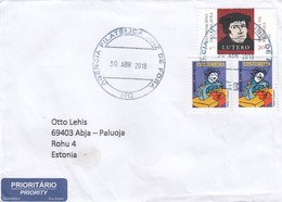 GOOD BRAZIL Postal Cover To ESTONIA 2018 - Good Stamped: Handwork ; Martin Luther - Brazil