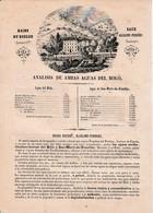 ANALYSE Des DEUX SOURCES Du BOULOU (66) - BAINS DU BOULOU - EAUX Alcalino-ferrées - EN CATALAN - Documents Historiques