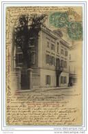 """Cachet Perlé Facteur Boitier """"Chateauneuf Du Rhône Drôme 1903"""" Blanc Frappe Superbe Indice= 4 Pour Paris - Marcophilie (Lettres)"""