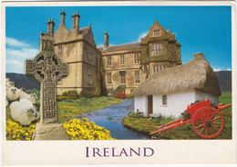 Ireland - Cross, Jaunting Cart, Castle, Cottage , Sheep -  (17 X 12 Cm.) - John Hinde - Ierland