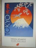 Avion / Airplane / VIRGIN ATLANTIC / Tokyo / Advertising Card / Pub / Airline Issue - 1946-....: Modern Era