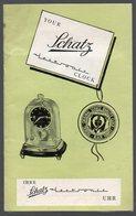 (horlogerie) Dépliant Anglais-allemand SCHATZ ELECTRONIC  (PPP13285) - Publicités