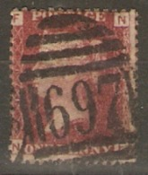 Great Britain 1858  1d Red  Plate  171  Fine Used - Used Stamps
