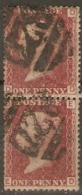 Great Britain 1858  1d Red  Plate  174  Fine Used  Pair - Used Stamps