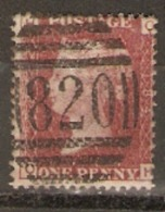 Great Britain 1858  1d Red  Plate  184 Fine Used - Used Stamps