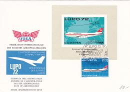 Journée De L'aérophilatélie Luzern 1972 - LUPO 72 - Autres Documents