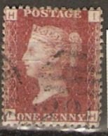 Great Britain 1858  1d Red  Plate  199 Fine Used - Used Stamps