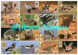 LIBYA - 1995 Libyan Zoo Wildlife Animals Birds (16 Maximum-cards) - Stamps
