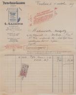 31 2586 TOULOUSE HTE GARONNE 1915 Chocolat L. LAJAUNIE Pharmacie PEPTO CACAO Rue Alsace Lorraine A BENAZETH - France