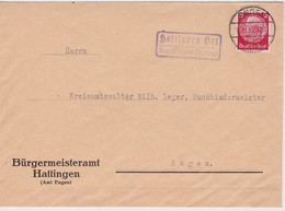 ALLEMAGNE 1934 LETTRE DE HATTINGEN ÜBER ENGEN - Allemagne