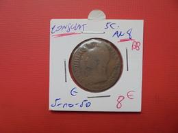 "DIRECTOIRE/CONSULAT 5 Centimes AN 8 ""BB"" QUALITE:VOIR PHOTOS - France"