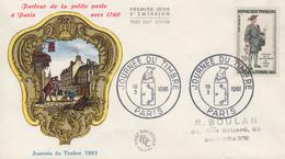 Enveloppe  FDC  1er   Jour   FRANCE    Journée  Du  Timbre    PARIS   1961 - 1960-1969
