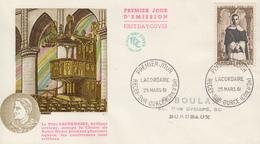 Enveloppe  FDC  1er   Jour   FRANCE    LACORDAIRE   RECEY  SUR  OURCE   1961 - 1960-1969