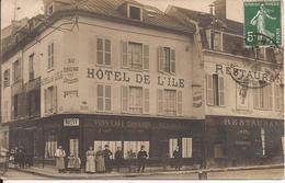 MELUN PLACE PRASLIN HOTEL DE L ILE CARTE PHOTO - Melun