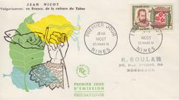 Enveloppe  FDC  1er   Jour   FRANCE    Jean  NICOT    NIMES   1961 - 1960-1969