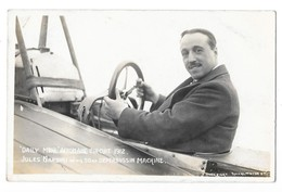 AVIATION AVION Daily Mail Aeroplane Circuit 1912 Aviateur NARDINI Sur Avion Deperdussin Gros Plan - Aviadores