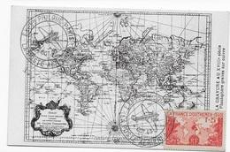 CPA Gravure Au XVIIIe Siècle Planisphère - Postales