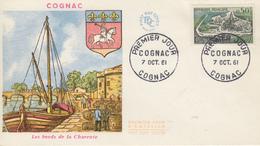 Enveloppe  FDC  1er  Jour   FRANCE   COGNAC   1961 - 1960-1969