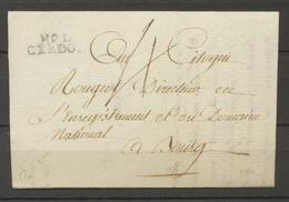1797 Lettre Marque Linéaire N°1 Cerdon AIN(1) Indice 10. TB X2157 - Poststempel (Briefe)