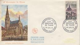 Enveloppe  FDC  1er  Jour   FRANCE   THANN   1961 - 1960-1969