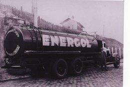 """Camion 'Tanker' Citerne  -   Publicitaire Pour La Marque """"Energol'  -  15x10 PHOTO - Transporter & LKW"""