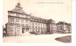 Mulhouse (Haut-Rhin-Alsace)-1920-Ecole Supérieure (Lycée) De Jeunes Filles-Edit. Ch. Bergeret, Strasbourg - Mulhouse