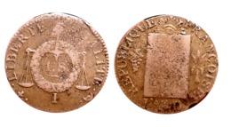 SOL AUX BALANCES (1794) I (Limoges) SANS DATE A VOIR!!! - 1789-1795 Monnaies Constitutionnelles