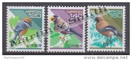 Japan - Japon 1998 Yvert 2417-19, Definitive, Flora & Fauna, Birds - MNH - 1989-... Kaiser Akihito (Heisei Era)