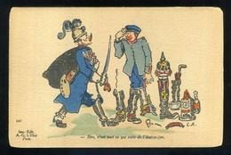Illustrateur  L.R. - Guillaume - Sire, C'est Tout Ce Qui Reste De L'état-major - Guerra 1914-18