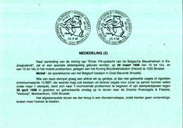 België - Dienstpostkaart 5/1998 - 28-03-1998 - Eind VN-opdracht In Ex-Joegoslavië - Opdracht Volbracht - Brussel - Militaria