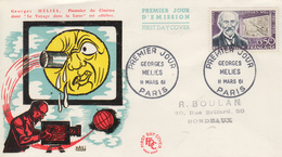 Enveloppe  FDC  1er  Jour   FRANCE   Georges   MELIES  1961 - FDC