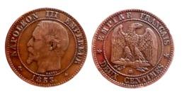 RARE!!! NAPOLÉON III 2 Centimes 1855 BB (Strasbourg) ANCRE A VOIR!!! - France