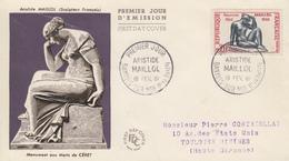 Enveloppe  FDC  1er  Jour   FRANCE   Aristide   MAILLOL    BANYULS  SUR  MER   1961 - 1960-1969