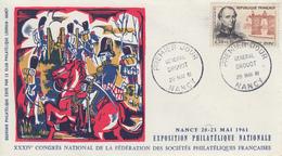 Enveloppe  FDC  1er  Jour   FRANCE   Général  DROUOT    NANCY   1961 - 1960-1969