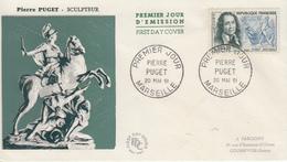 Enveloppe  FDC  1er  Jour   FRANCE   Pierre  PUGET  MARSEILLE   1961 - 1960-1969