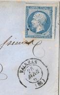 N° 14 2 VOISINS Luxe, PC 3482 VALREAS Vauckuse Pour LYON. - 1849-1876: Periodo Clásico