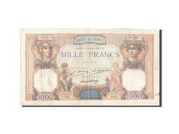 Billet, France, 1000 Francs, 1 000 F 1927-1940 ''Cérès Et Mercure'', 1927 - 1871-1952 Circulated During XXth