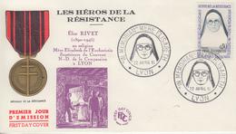 Enveloppe  FDC   FRANCE  1er  Jour  Héros  De  La  Résistance   Mére  ELIZABETH   LYON   1961 - 1960-1969
