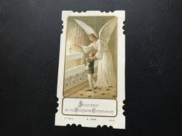 1019 - Souvenir De Ma Premiere Communion  (ange Guidant L'enfant) - 1927 - Devotion Images