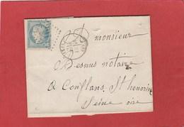 Siège De Paris - Cérès N°37 - Poissy GC 2914 Juin 1871 - 1870 Besetzung Von Paris