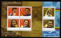 Londen 2012 Olympics S/Sheet From Sierra Leone Gold Medal Winners SwimmingRanomi Kromowidjojo,Missy Franklin And More - Sommer 2012: London