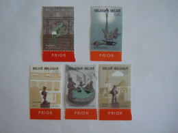 België Belgique 2003 Toerisme Tourisme Standbeelden Sculptures 3194-3198 Yv 3183-3187 MNH ** - Belgium
