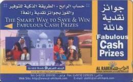 Bahrain Magnetic Phonecard,  Al Ahli Bank Fabolous Prizes, Taj Mahal & Family, 100 Units. - Bahrain