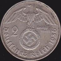 Allemange, Troisième Reich 2 Reichsmark 1936 D - Argent /silver - 2 Reichsmark