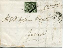 Romagne, 1859 Governo Provvisorio - 2 Baj Su Piego Da Bologna Per Ferrara - Romagne